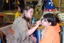 The children loved to get their face painted by Sarah Strieter.